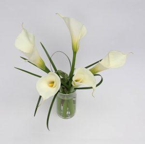 The Elegant Calla Lily Center Piece