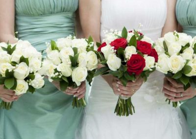 The Bride and Her Court with a Classic Rose selection