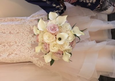 Ivory and Blush Bouquet custom made to match the Bridal Gown